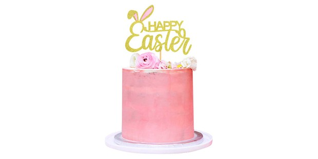 Happy Easter cake topper