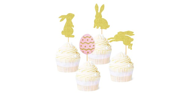 Bunny and Easter egg cupcake toppers