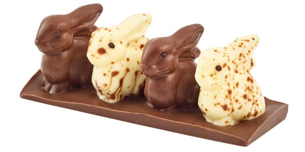 Milk and White Chocolate Speckled Rabbit