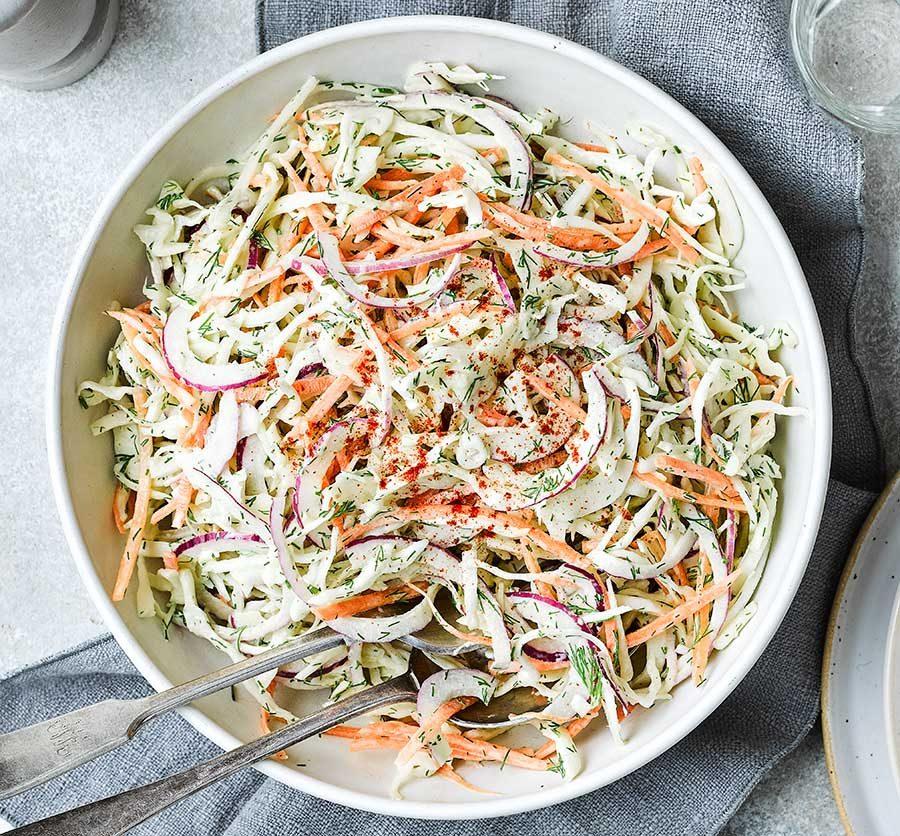 Classic homemade coleslaw