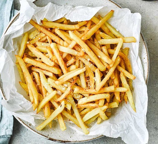French fries in paper