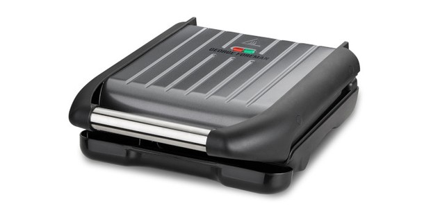 GEORGE FOREMAN STEEL GRILL MEDIUM