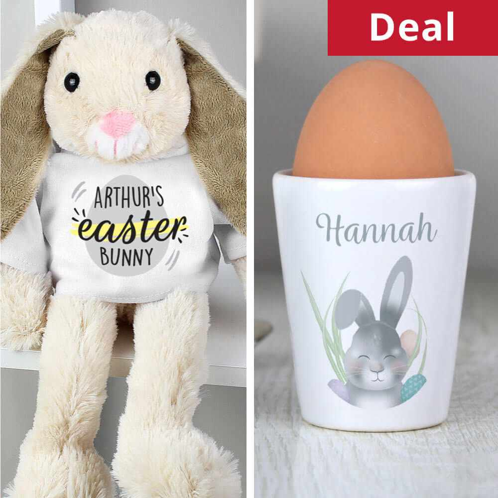 Personalised Bunny & Egg Cup