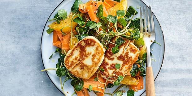 Halloumi, Carrot and Orange Salad