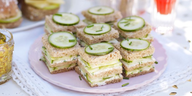 cucumber-and-herb sandwiches