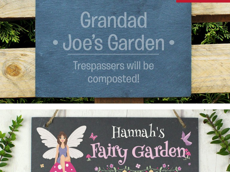 Get a personalised garden sign and dibber for just £15.49!