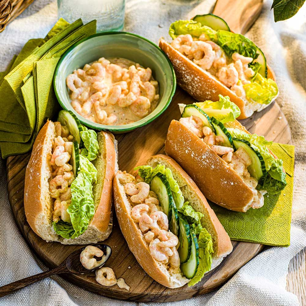 Spiced prawn cocktail subs