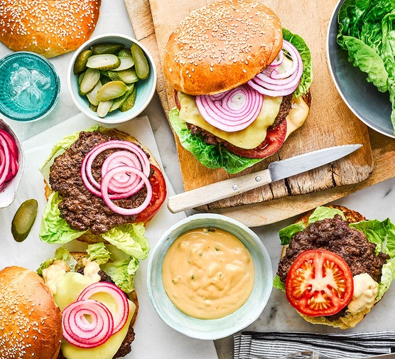 The ingredients for next level burgers and buns