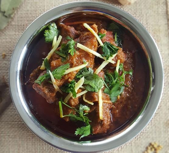 Beef bhuna in dish
