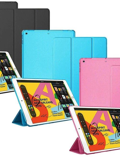 iPad Mini 2 case in three colours (Space Grey, Blue and Pink)