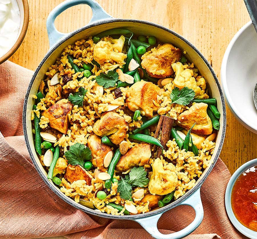 One-pot chicken & curry rice