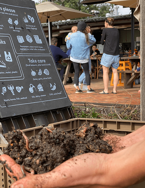 A man with a handful of soil