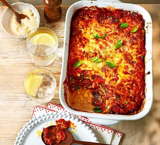 Aubergine parmigiana lasagne