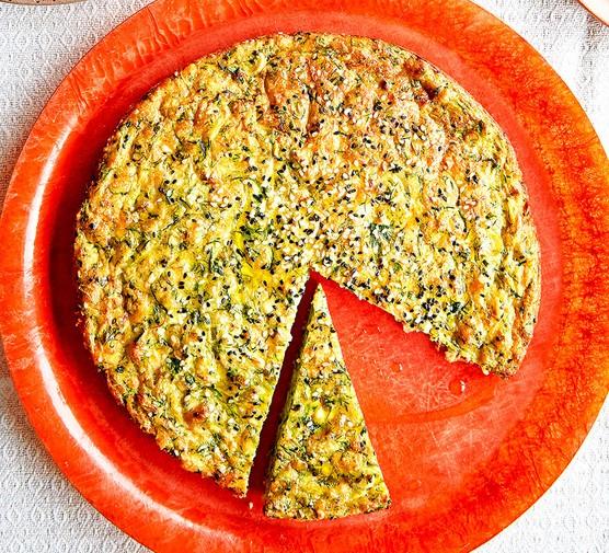 Baked mücver (courgette & feta bake)