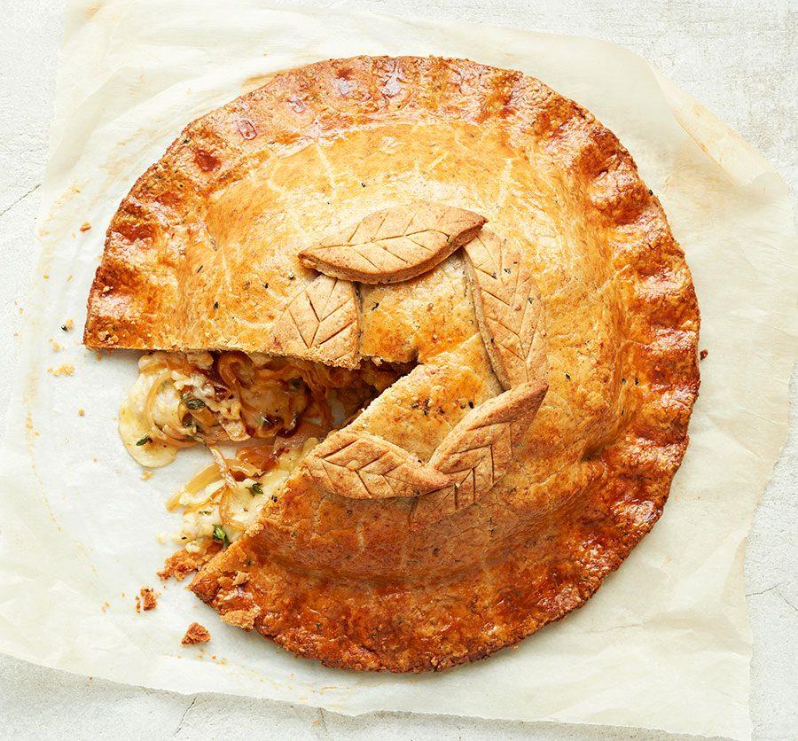 Cheese & onion pie