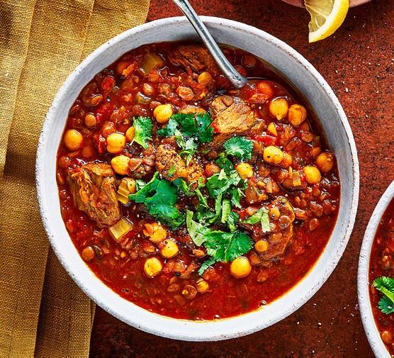 A serving of harira soup
