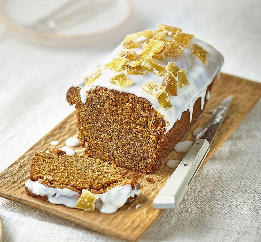 Vegan ginger loaf cake