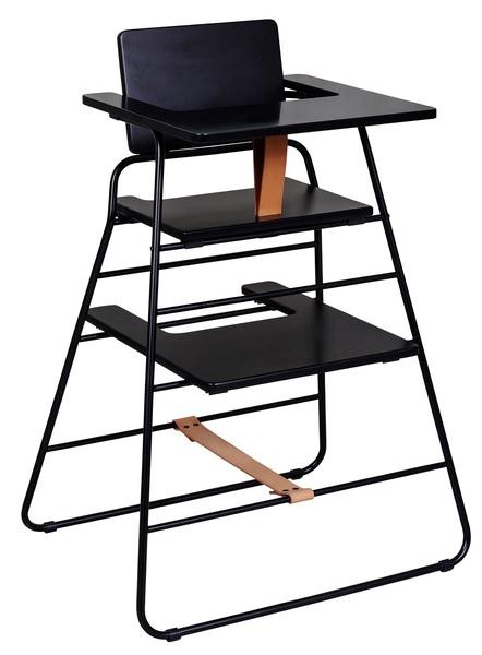 The 10 most stylish high chairs TOWERchair_BLACKbrown_TRAYblack_grande