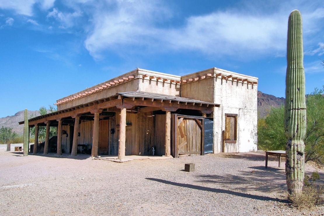 Old ranch house in the desert near Tucson, Arizona.
