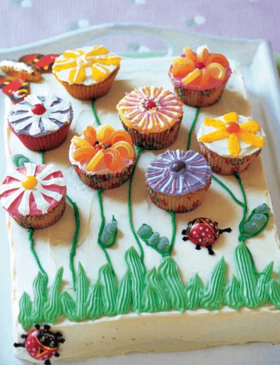 Flowering Garden children's birthday cake