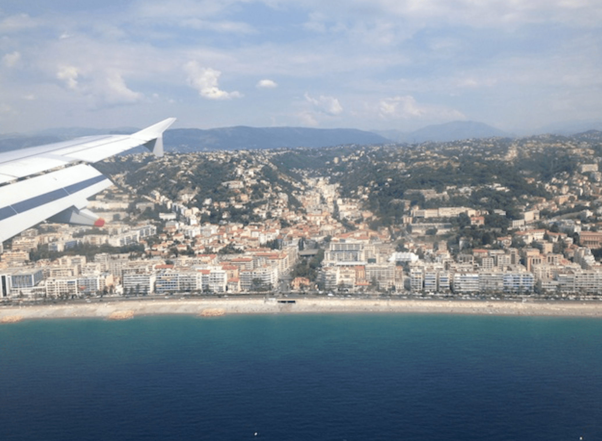 Flying over Nice