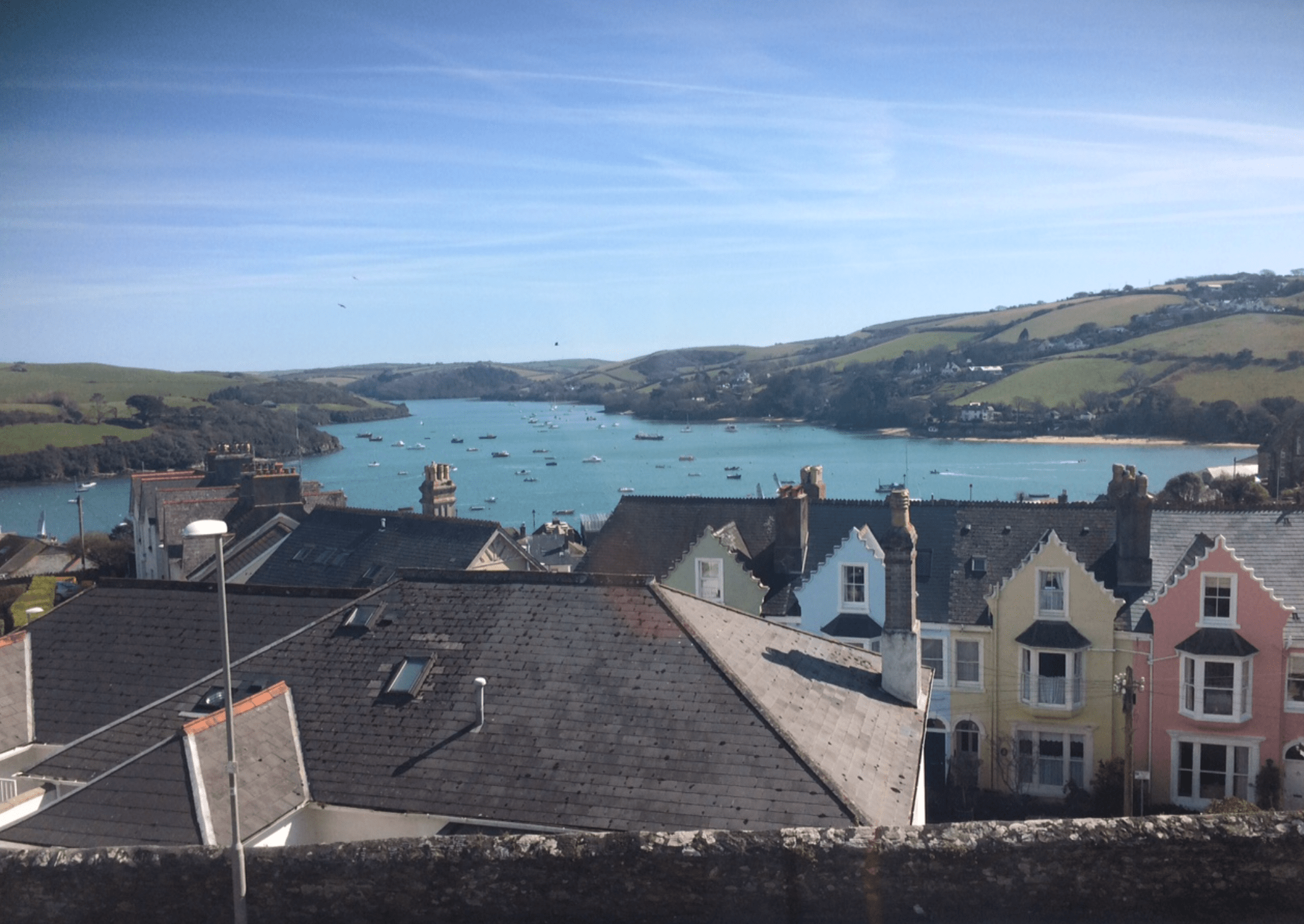 What a view of Salcombe Estuary to wake up to