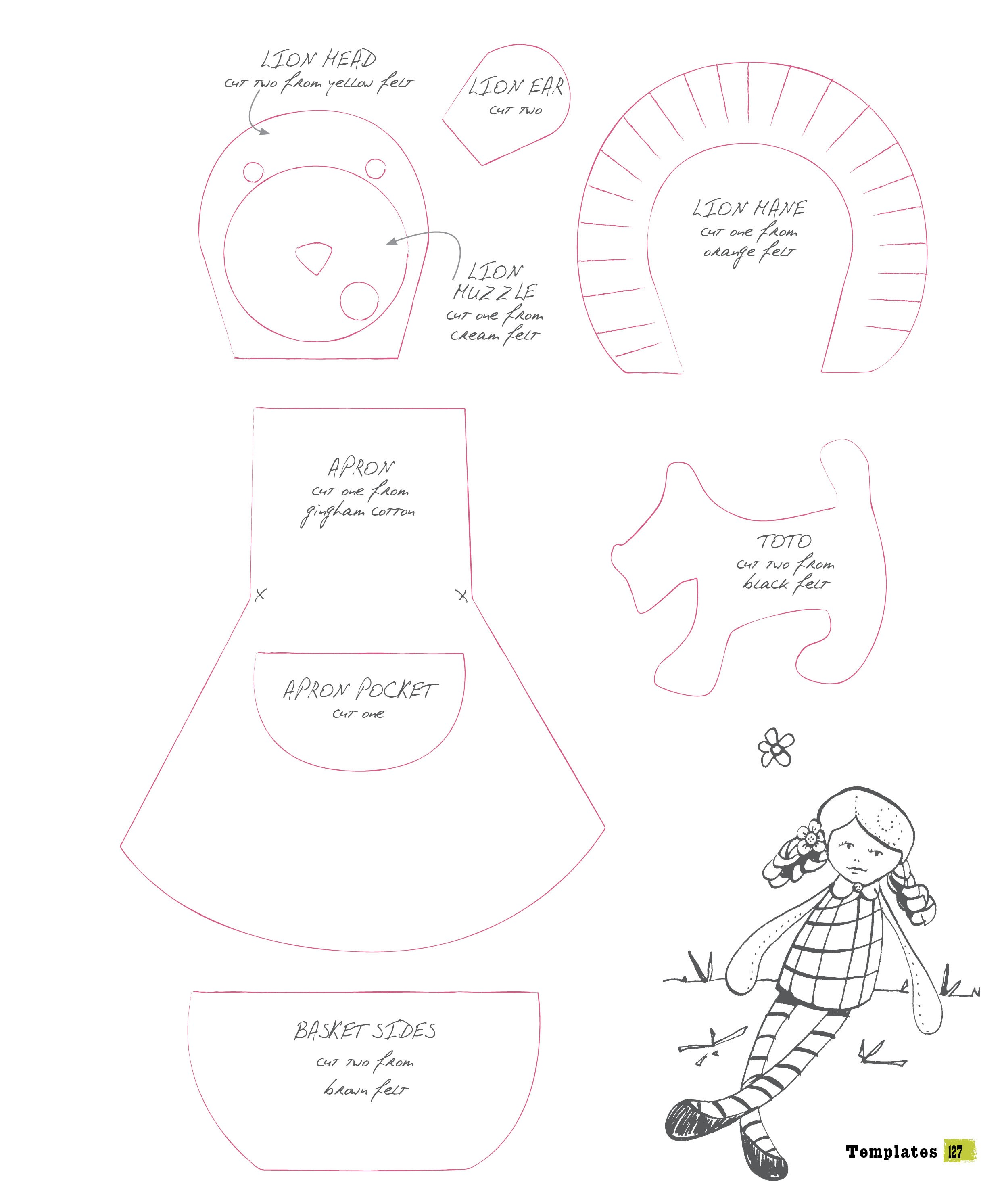 How to make little dolls apron