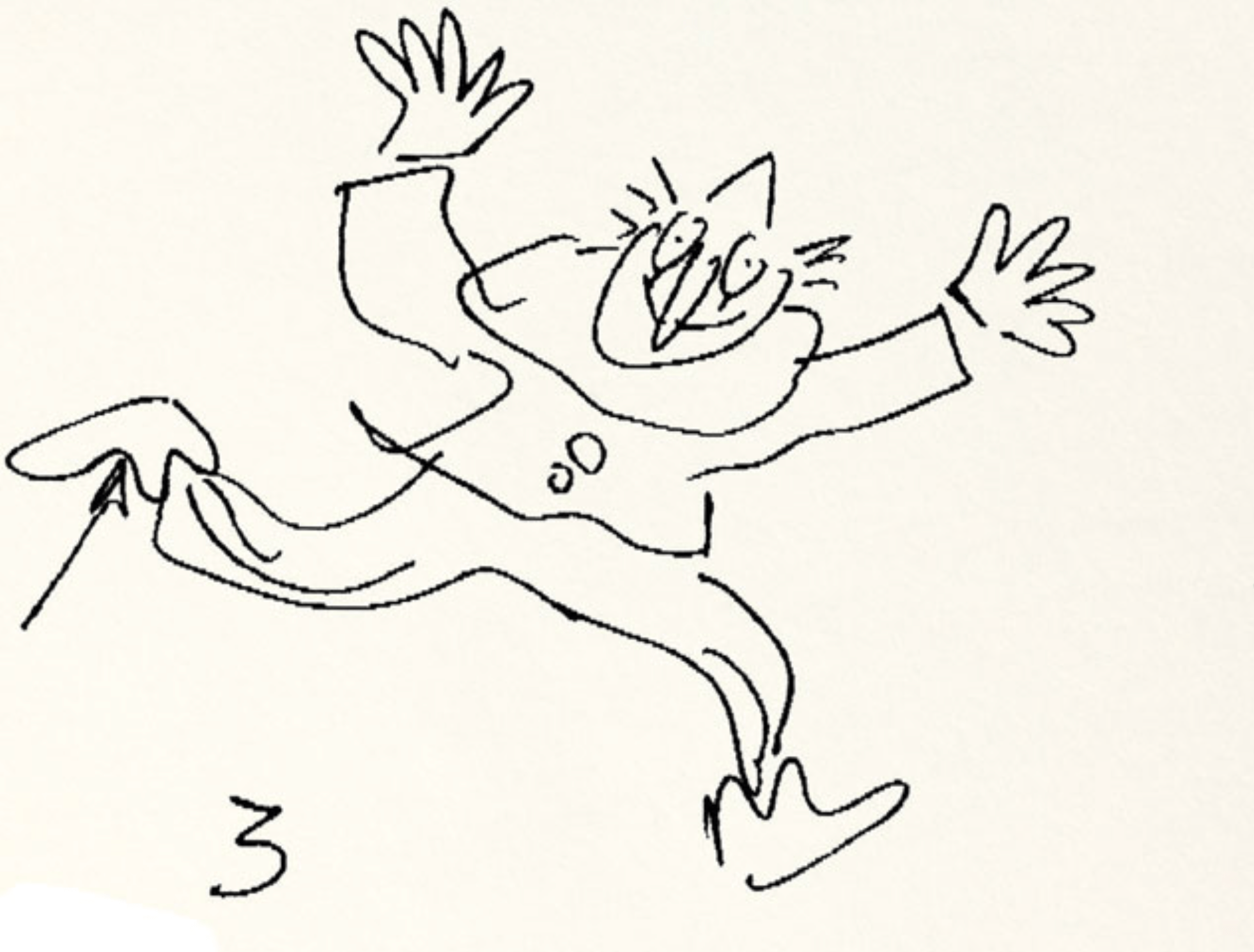 Quentin Blake sketching lesson below... The famed illustrator show us his three quick steps to a quirky sketch