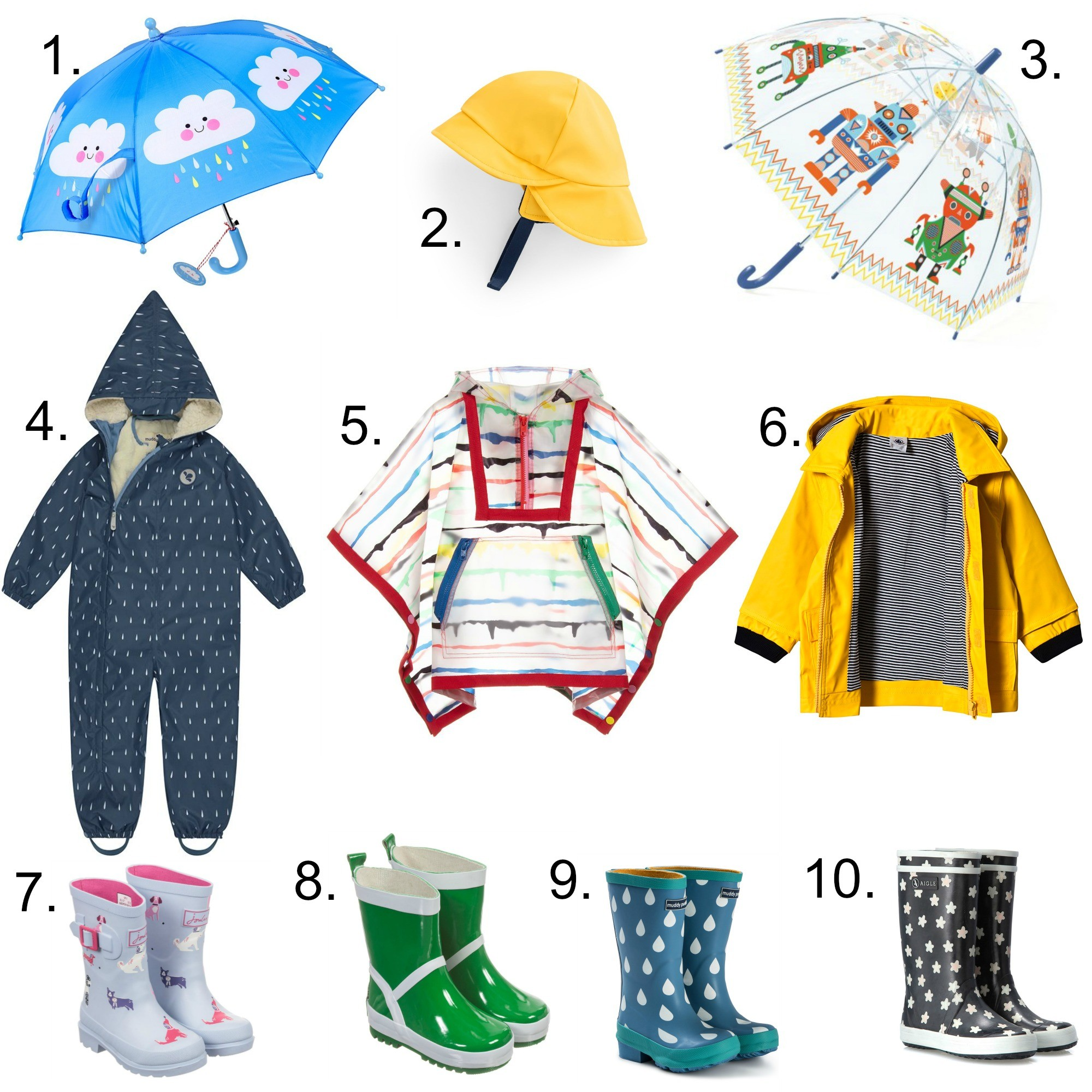 The joys of jumping in puddles - and wet weather essentials for kids