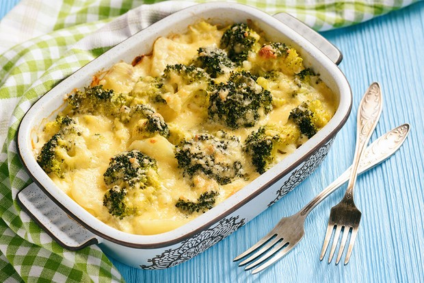 Broccoli, Leek & Cauliflower Bake from Little Dish