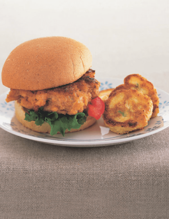Salmon Burgers the kids will love