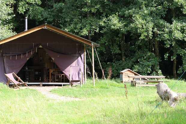 Glamping, Feather Down Farm style, at beautiful Lunsford Farm