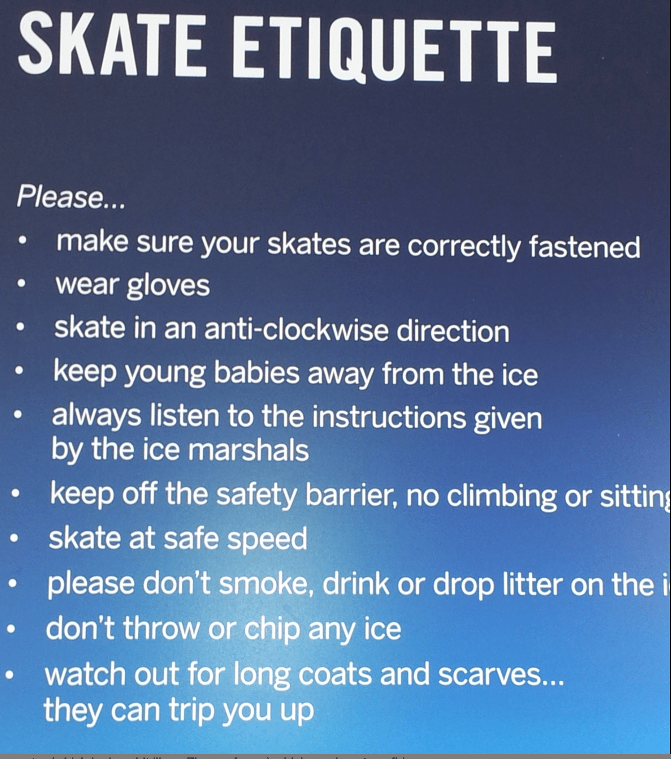 Ice-Skating Etiquette for children