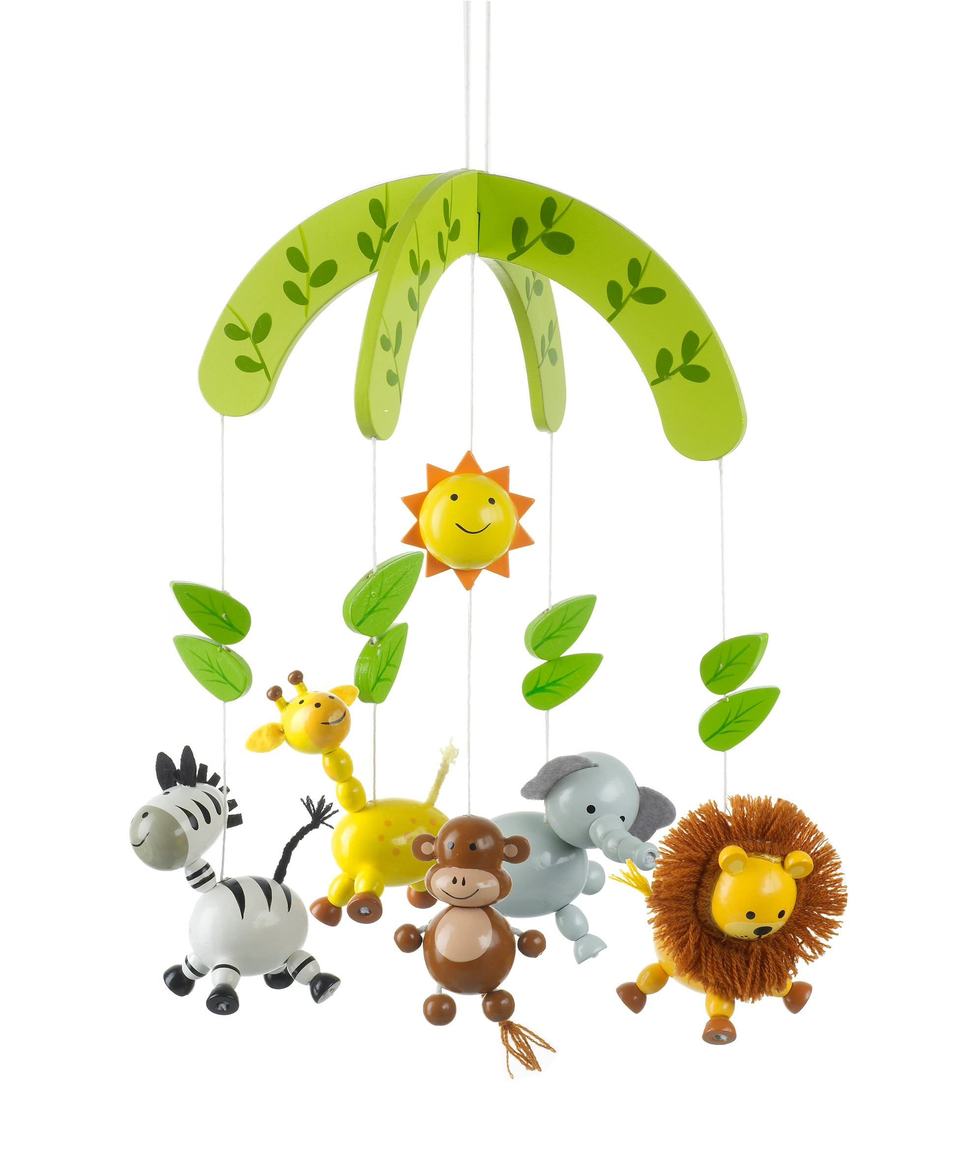 Wooden Nursery Mobile - Friendly Animal Safari