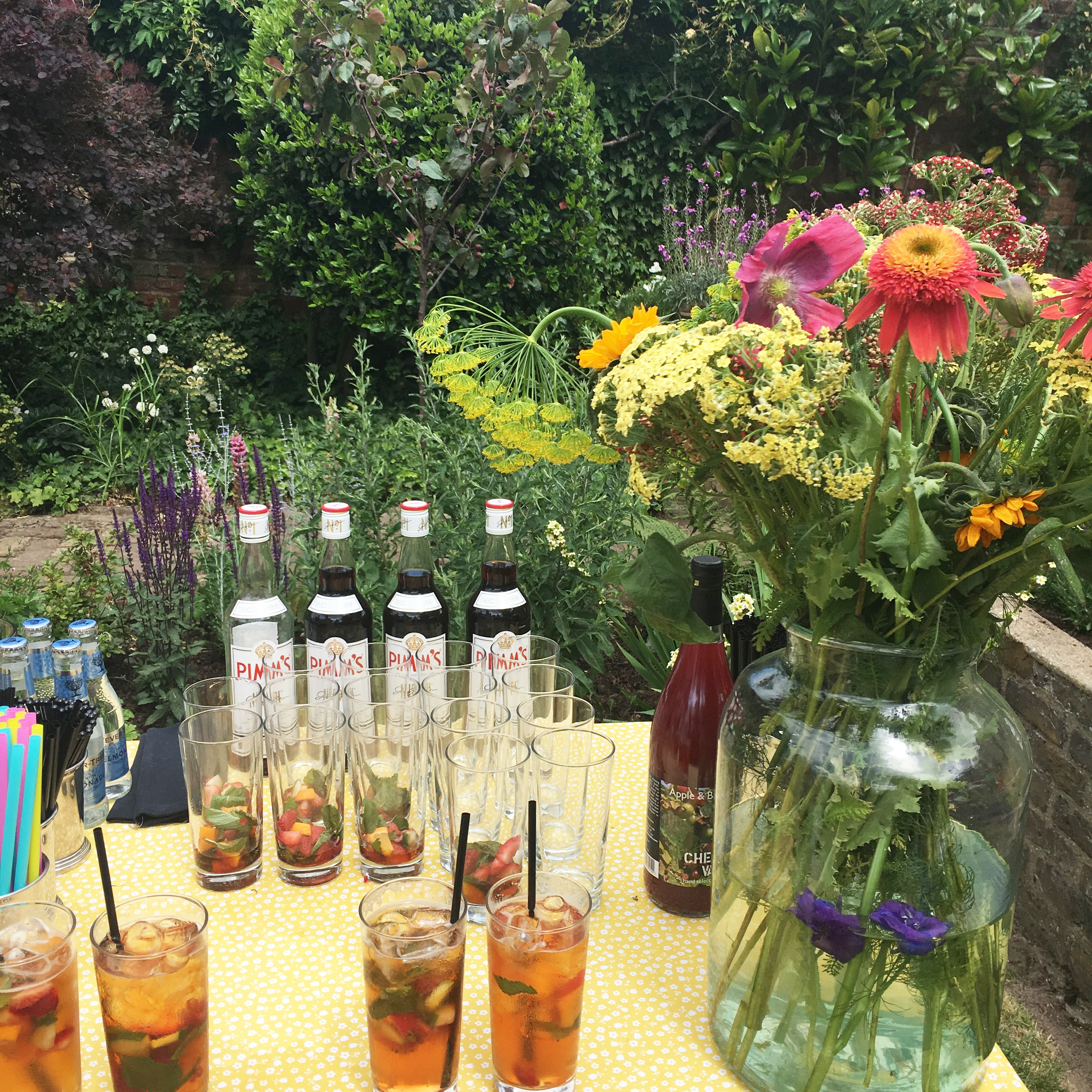 The drinks station was constantly busy with juice, cordials and chilled water filled with cucumber ribbons and mint for the kids and Pimms for the grown-ups