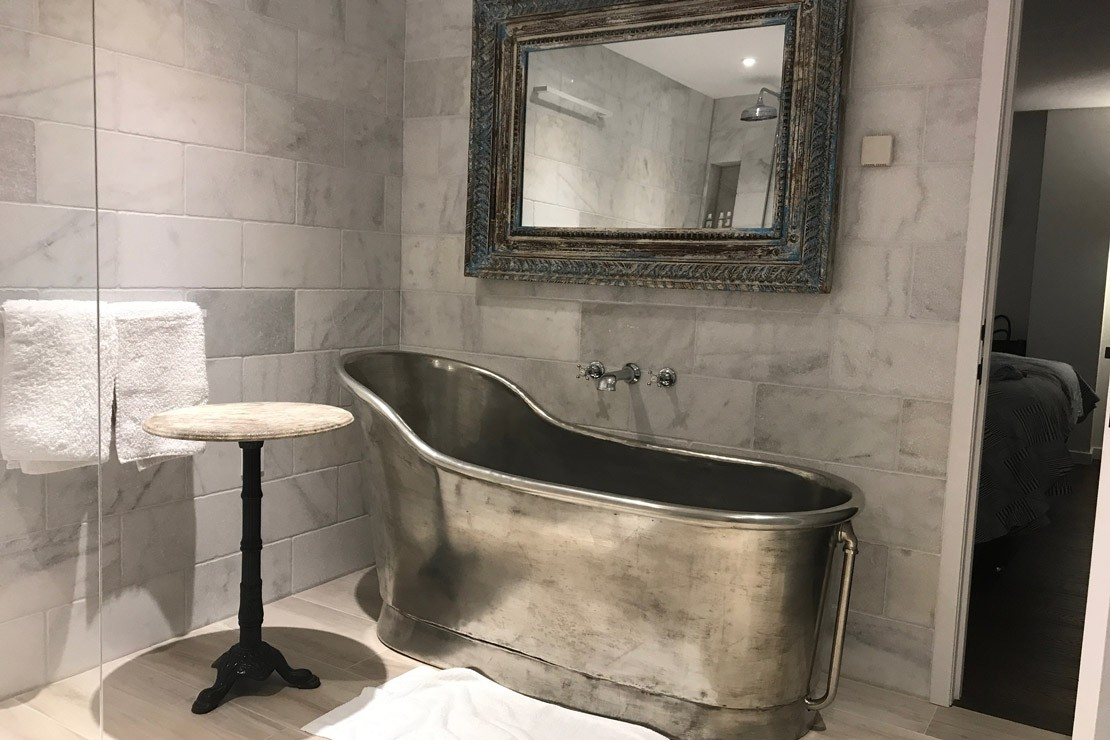 One of the stunning bathrooms at Barford.