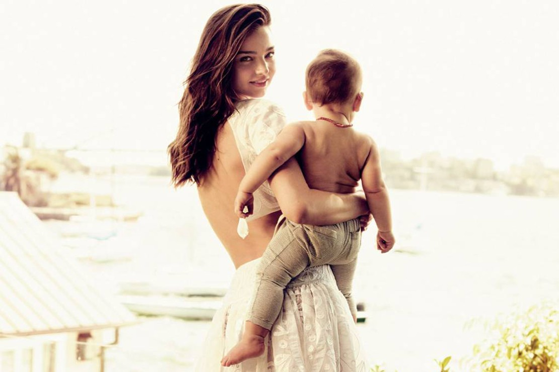 Miranda Kerr and her model son