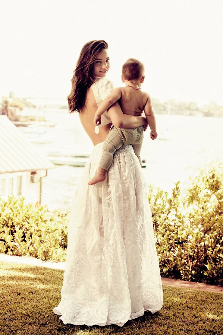 Miranda Kerr and her model son