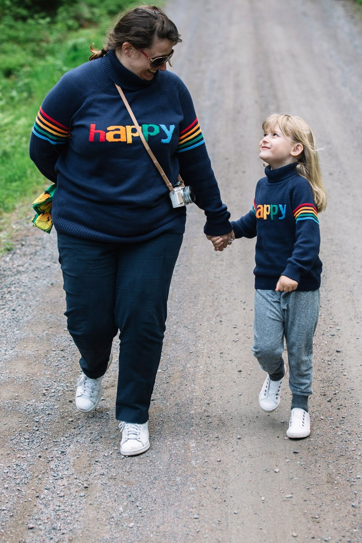 Our Editor Bonita and her daughter Marnie in Småland (PICT: Alexander Hall/Visit Sweden)