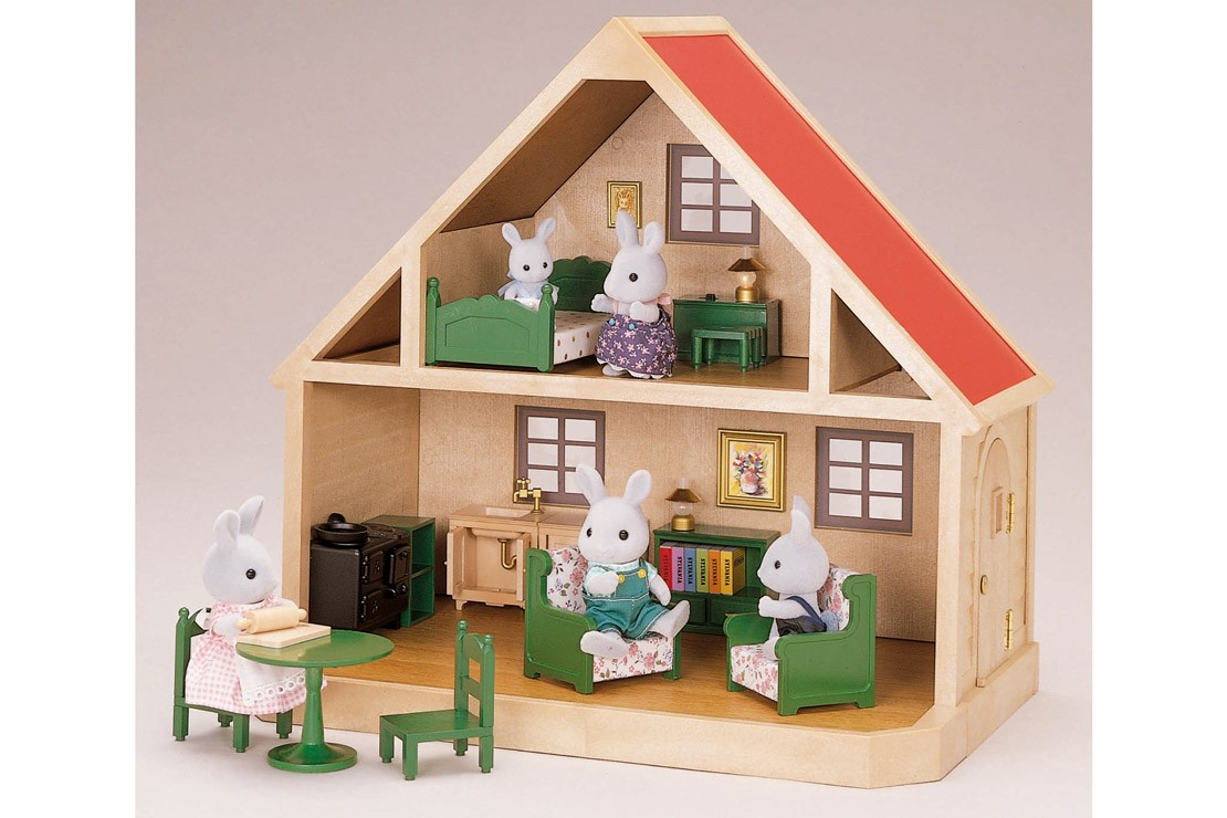 The earliest version of the Sylvanian Families Country Cottage from 1985