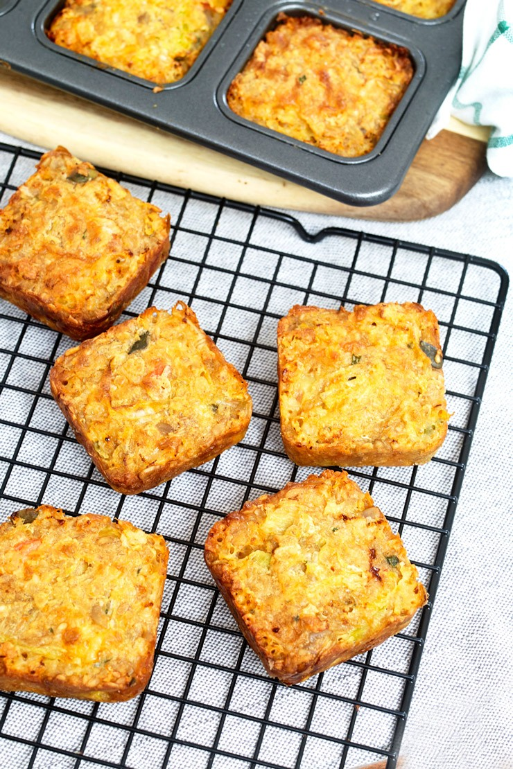 Leek and Cheese Seeded Flapjacks for the whole family