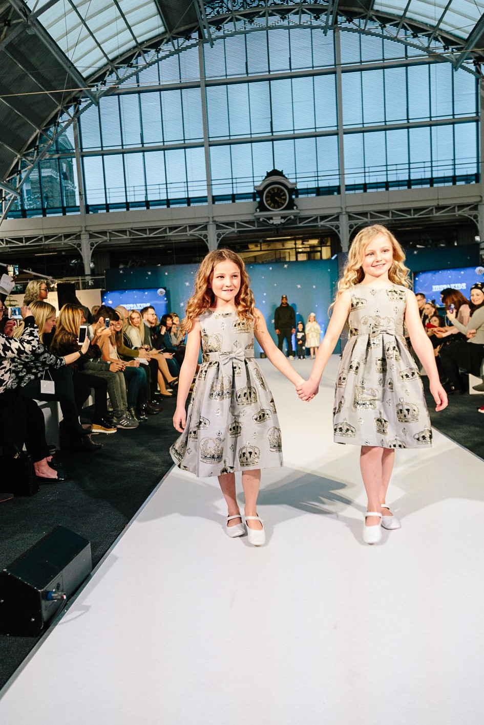 Fleur Isted (walking with here friend India) both wearing Rachel Riley