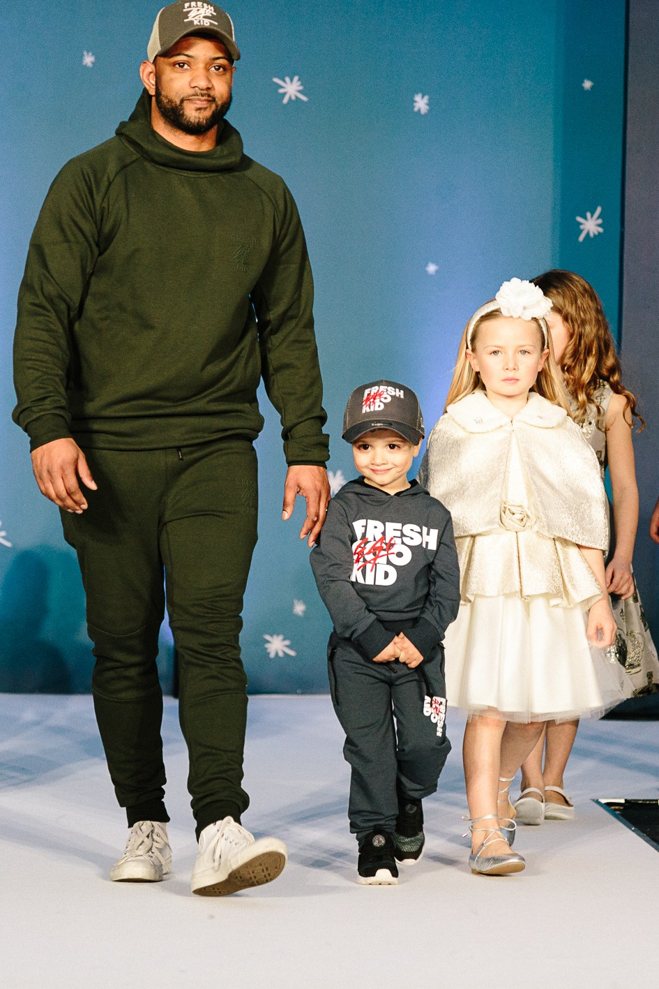 JB Gill took to the catwalk with his son Ace both wearing Fresh Ego Kid