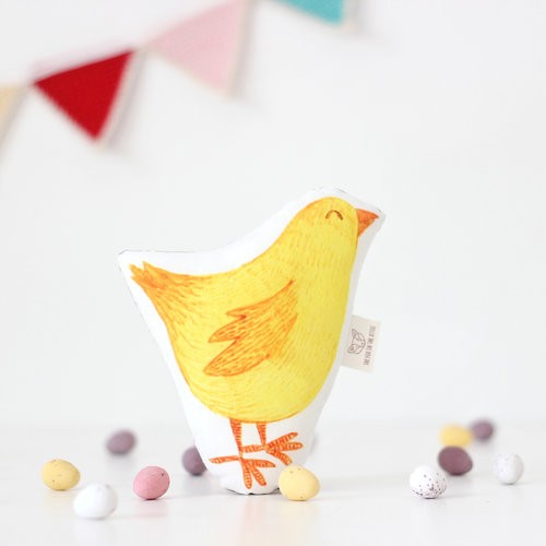 Easter Chick Baby Rattle by The Fox in the Attic, notonthehighstreet