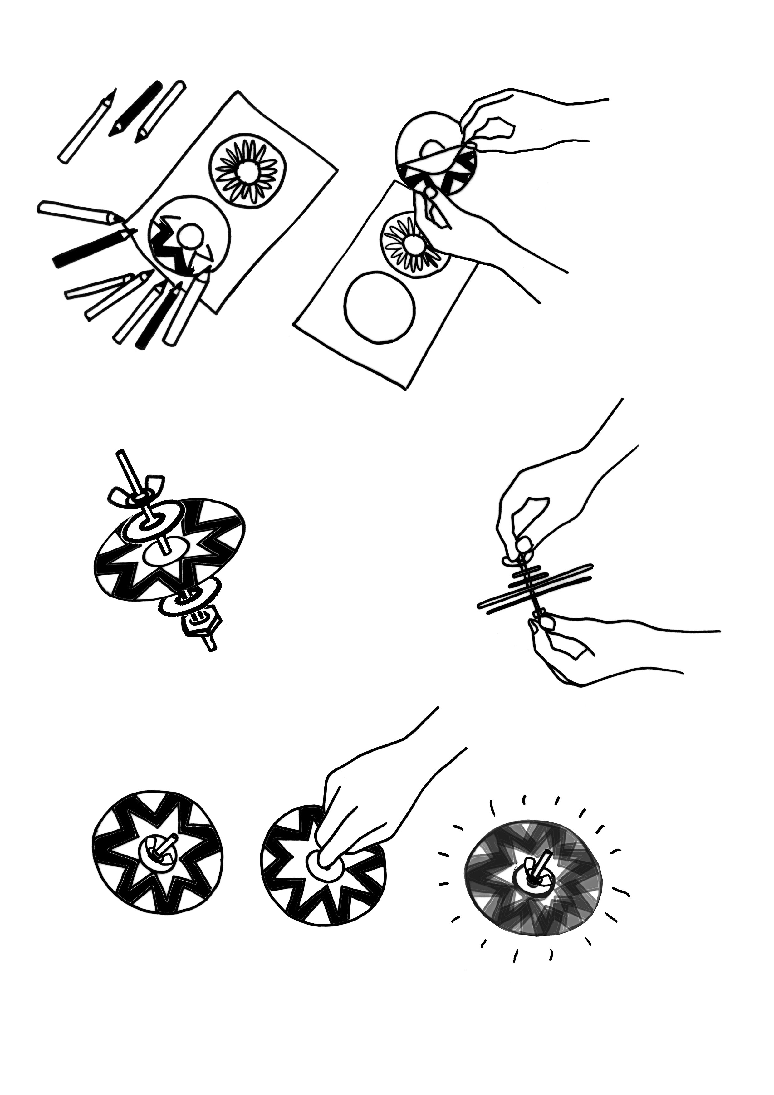 CD Spinner sketches