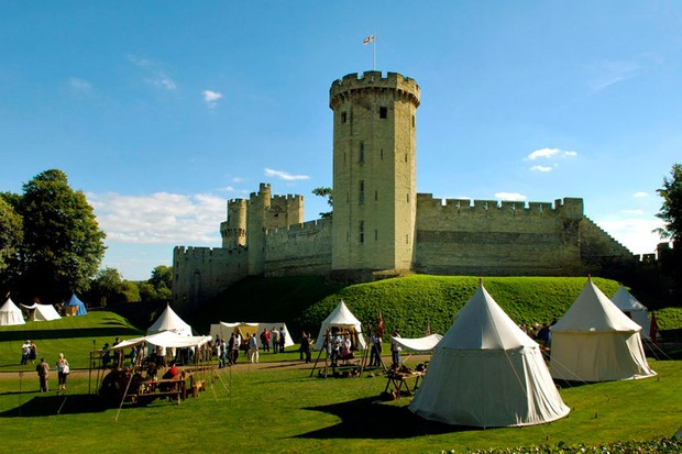 Warwick Castle: The Knight's Tent offering luxury family glamping in an historic setting