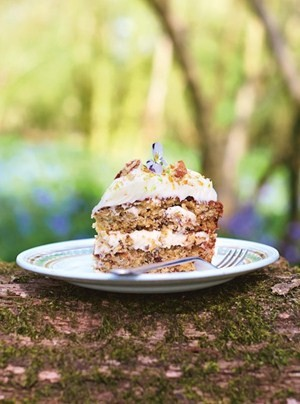 This delicious cake is perfect for parties - or just a treat with tea. © Jamie Oliver Enterprises (2014 Jamie's Comfort Food) Photographer: David Loftus