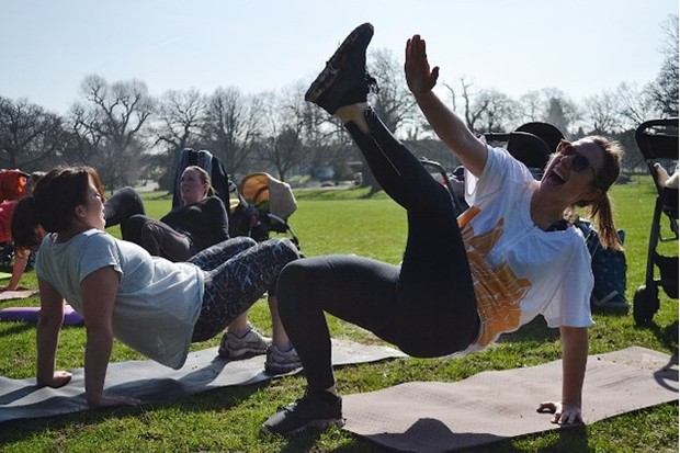 There are lots of laughs to be had at a Fit Birds bootcamp. Photo: Shani Yeend, Fit Birds