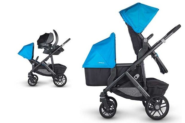 UPPAbaby Vista double buggy can cope with twins or a toddler and baby