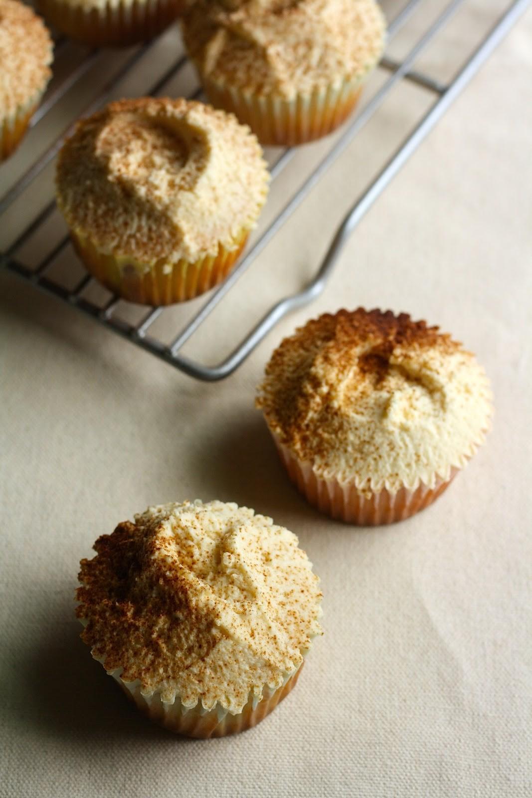 Thanksgiving Pumpkin Cupcakes recipe from The Hummingbird Baker